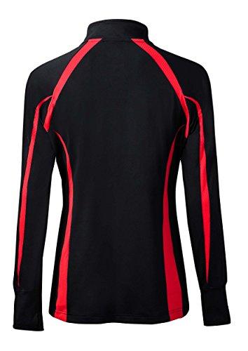 Black Red Mizuno Collection Jacket Nine Women's Zip Youth Focus Full qqnH8FzAw