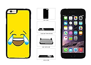 Bright Yellow Laughing Crying Smiley Face Plastic Phone Case Back Cover Apple iPhone 6 Plus (5.5 inches)