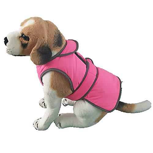 WaiiMak Pet Dog Winter Warm CoatPuppyJacket Clothes for Small Medium Large Dog (L, Pink)