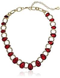 Gold-Tone Siam All Around Collar Necklace