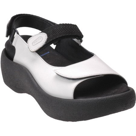 Jewel Wolky Weiss Leather Leder 30100 Sandals 3204 Womens 4rTxwrE