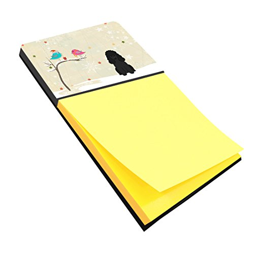 UPC 638508456748, Caroline's Treasures Christmas Presents between Friends Poodle Black Sticky Note Holder, Multicolor (BB2543SN)