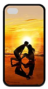 iPhone 4 4s Cases & Covers - The Love Of The Beach Custom TPU Soft Case Cover Protector for iPhone 4 4s - Black