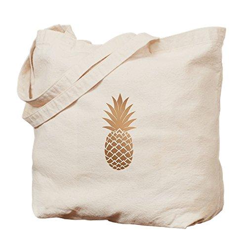 CafePress–oro piña–Gamuza de bolsa de lona bolsa, bolsa de la compra