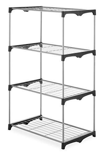 (Whitmor 4 Tier Shelf Tower - Closet Storage Organizer)