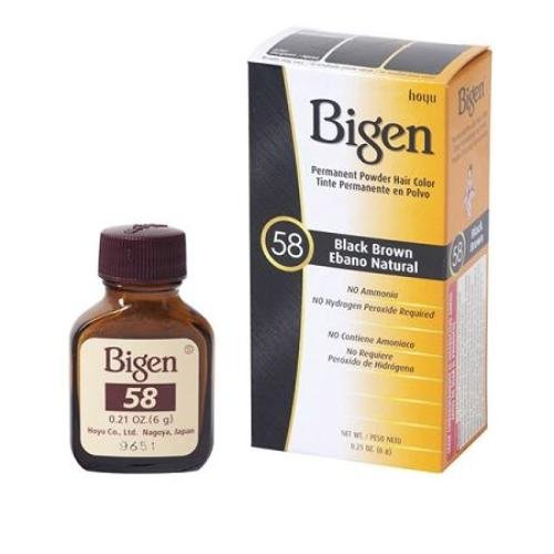 Bigen Hair Color 58 Black Brown 0 21 product image