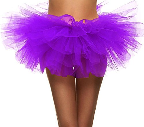 Women's Cosplay Costume Ballet Warrior 5K, 10K Fun Dash Run Adult Tutu, Purple ()