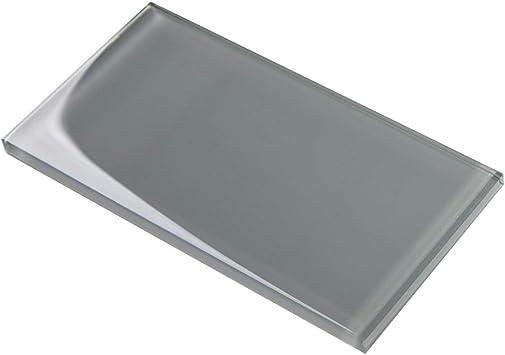 Soulscrafts Glass Subway Tile for Kitchen Backsplash Bathroom Shower Wall 3 x 6 Inch Dark Teal 40-Pack, 5 sq.ft.