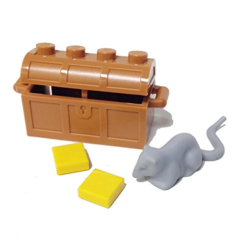 Lego Parts: Animal, Land - Rat with Chest and Cheeses (LBGray - (Lego Halloween Moc)