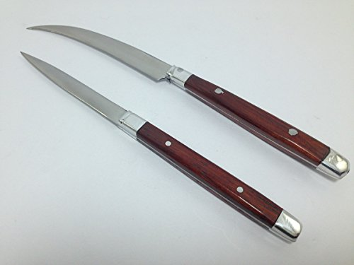 2pc Vintage Carving Knife Set Fruit Carving Tools Thai Knives Kitchen Vegetable by Mr_air_thai_knife