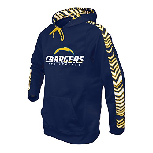 NFL San Diego Chargers Men's Zubaz Camo Print Accent Team Logo Synthetic Hoodie, XX-Large, Navy (Team Official Hoody Sweatshirt)
