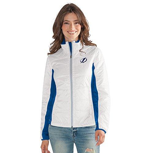 Grand Slam Jacket - NHL Tampa Bay Lightning Women's Grand Slam Full Zip Jacket, XX-Large, White