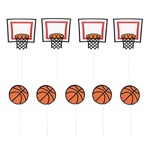 JANOU Basketball Sports Cupcake Toppers Cake Picks Decoration Birthday Baby Shower Wedding Party Suppliers Pack -