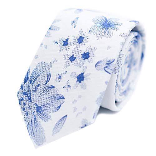 JESLANG Men's Cotton Printed Floral Tie 2.56