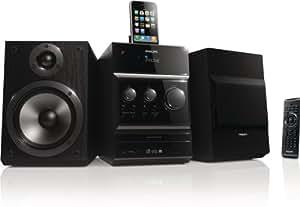 "Philips - Microcadena (Home audio micro system, Negro, 160 W, 13,3 cm (5.25""), FM, Almacenamiento automático)"