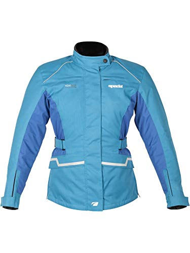 Spada Hydra Motorcycle Motorbike Ladies Textile Armoured Jacket - Blue 10