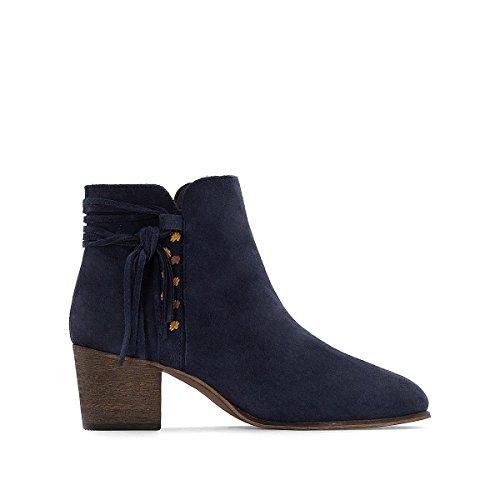 La Redoute Collections Frau Boots, Leder, Flechtdetail Gre 40 Blau