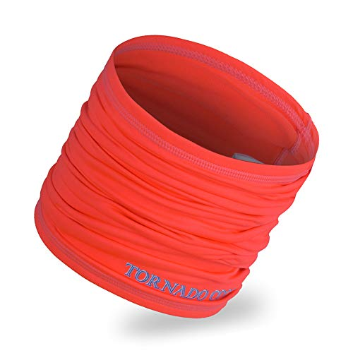 Cooling Headwear, Multifunctional Microfiber Sports Headwear - 16-in-1 Headband including Headband, Neck Wrap, Bandana, Face Mask, Helmet Liner, Orange