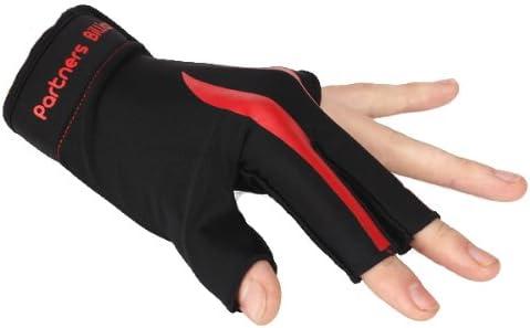 Ofenhandschuh, für 3 Finger für Billard – Schwarz Rot