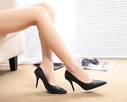 LBDX Printemps et Automne version coréenne Pointu Chaussures à talons hauts Talon mince Bouche peu profonde Chaussures pour femmes (Couleur : #2, taille : 38) #2
