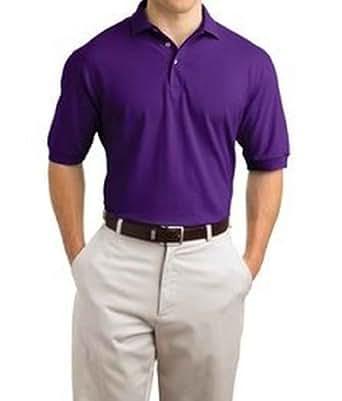 Hanes Men's 7 oz Hanes STEDMAN Cotton Pique Polo, S-Purple
