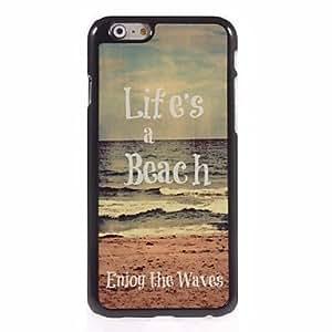 FJM Life is a Beach Design Aluminum Hard Case for iPhone 6 Plus