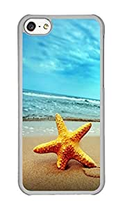 Iphone 5C Case Beautiful Beach Starfish Clear PC Hard Case For Apple Iphone 5C