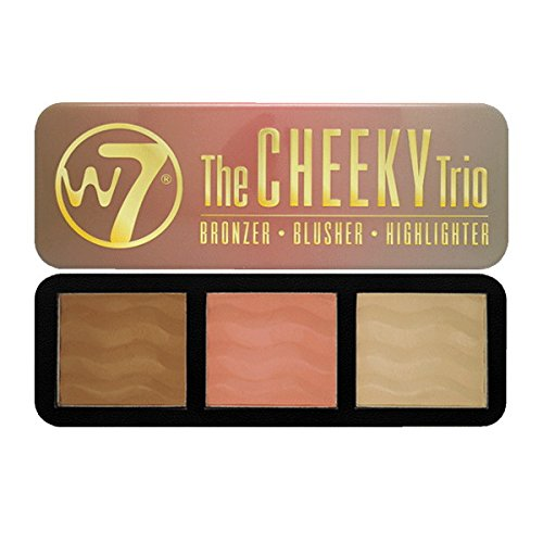 The Cheeky Trio Powder Palette W7 0.74 oz Bronze - Dream Machine, Blusher - 5th Avenue, Highlighter - Hot Stuff For Women