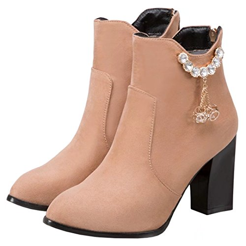 AIYOUMEI Women's Classic Boot apricot dZaOdwaJg