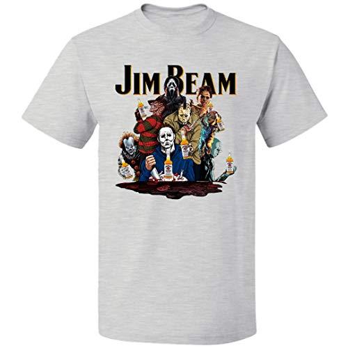 Jim Beam Halloween Costume (Jim-Beam Halloween Horror Film Characters Unisex T Shirt Costumes for Mens Womens Up to 5XL (Ash -)