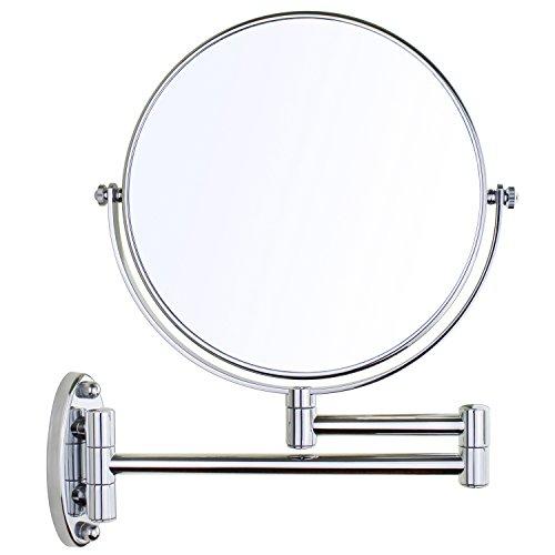 Gloriastar Wall Mount Makeup Mirror,1x/5x Magnification, - Silver Spa Mirror