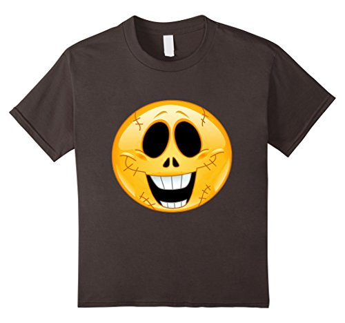 Kids Halloween Emoji T Shirt Smile Teschio Shirt 6 Asphalt
