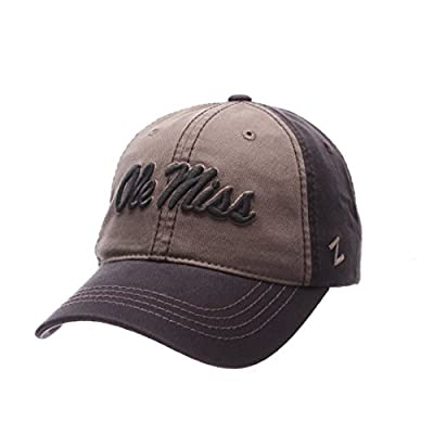 Zephyr NCAA Mississippi Old Miss Rebels Men's Storm Front Strap Back Hat, Adjustable, Multicolor by Zephyr Graf-X