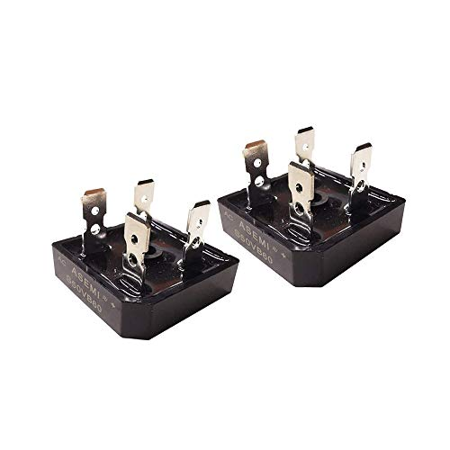 ASEMI S50VB60 (Pack of 5pcs) Through Hole Single Phase 50A600V Bridge Rectifier Diode 4 Pins for Generator…
