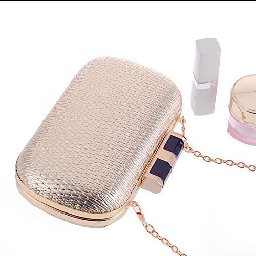 Women's dress clutch handbag purse KERVINFENDRIYUN evening bag Black simple PU fashion Gold Color 1pIdwq