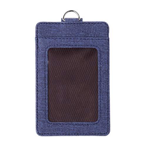 SimpleLif Credit Card Holder Men's Women Slim Wallet - RFID Blocking,Badge Holder, ID Window Card Holder Office Bus Cards Case with Key Ring
