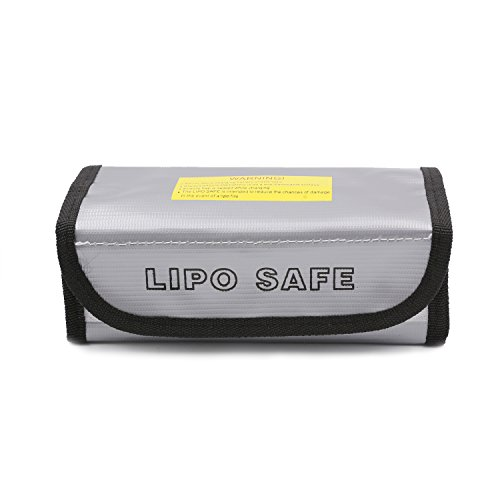 Lithium Battery Box - Topgalaxy. Z Fireproof Explosionproof Lipo Battery Safe Bag Lipo Battery Guard Safe Bag Pouch Sack for Charge & Storage (7.3'' x 2.95'' x 2.36'')