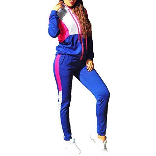Mxssi Mujeres Hit Color Patchwork de Punto con Capucha + ...
