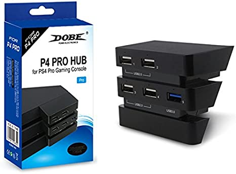 Childhood 5 Port USB hub 1 USB 3.0 4 * USB 2.0 Adaptador de expansión USB para Playstation 4 PS4 Pro: Amazon.es: Videojuegos
