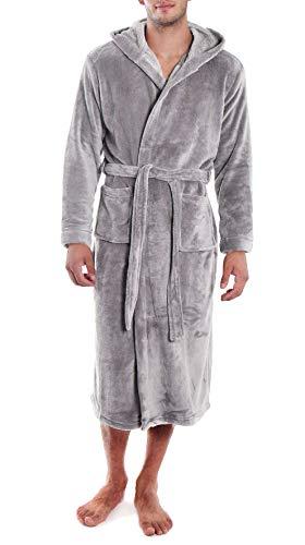 Verabella Hooded Bath Robe Men Men's Ultra-Soft Plush Hooded Bath ()