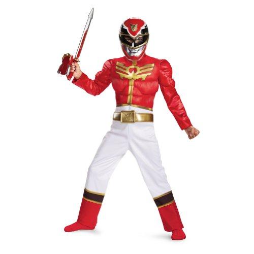 [Disguise Power Ranger Megaforce Red Ranger Boy's Muscle Costume, 10-12] (Power Rangers Megaforce Halloween)