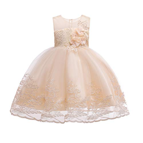 1-12 Years Girls Dress Sequin Lace Wedding Party