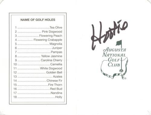 Hootie Johnson Autographed Masters Augusta National Golf Club Scorecard - Chairman