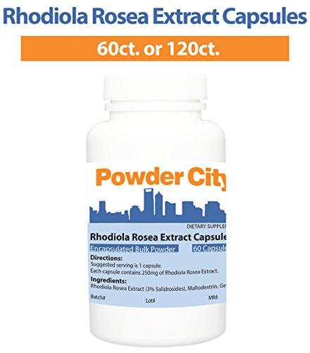 Powder City Rhodiola Rosea Capsules (120 Capsules)