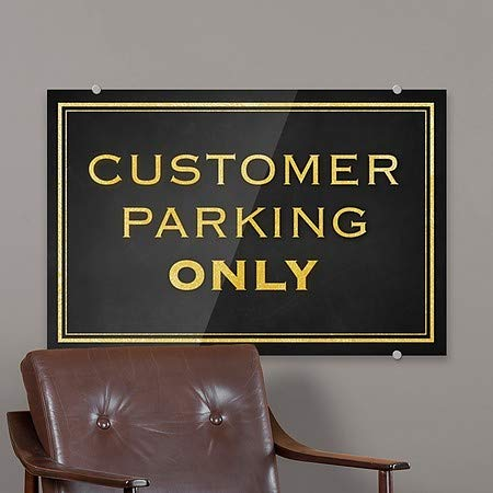 Customer Parking Only 5-Pack Classic Gold Premium Acrylic Sign CGSignLab 27x18