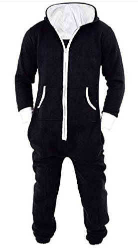 Nicetage Womens Unisex One Direction Rihanna Aztec Camouflage Hooded Onesie Jumpsuit Black L