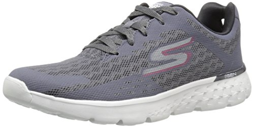 Skechers Performance Men's Go Run 400 Disperse Running Shoe, Charcoal/Red, 9.5 M US