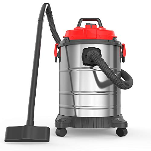 Heavy Duty Wet-Dry Vacuums, 8 Gallon 30L 4.5 Peak HP Stainless Steel Tank Movable and Portable Vac for Home, Shop and Industrial Multipurpose (8 Gallon 30 L, 4.5 HP)