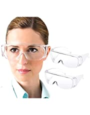 Safety Glasses, Anti Fog Safety Glasses ANSI Z87.1 Medical Goggles, Lightweight, Clean Lens, 99% UV Protection Anti-Splash Protective Eyewear Goggles For Nurses, Lab, Chemistry, Construction, Shooting