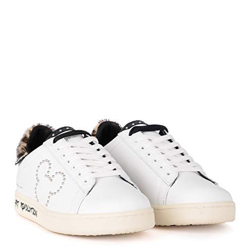 MoA Pelle e in Weiß Borchie Bianca Sneaker T0qH6xgwg